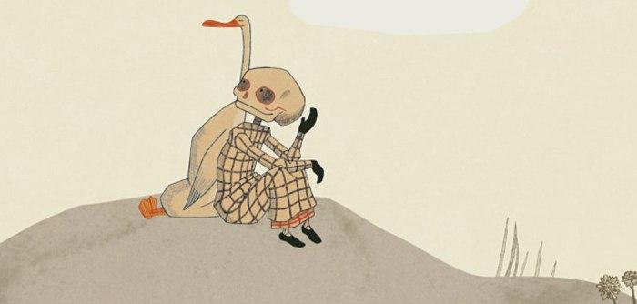 Pato y muerte de espaldas conversan