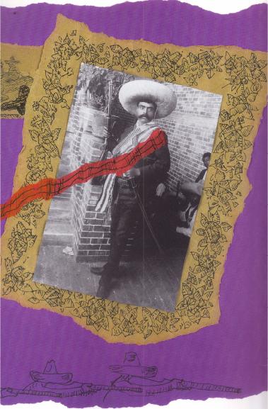 Zapata con papelito morado